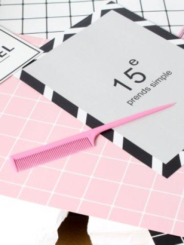 【A00301】尖尾梳-螢光粉