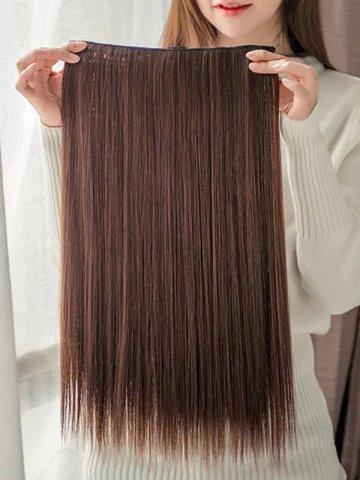 【PA0101】五扣一片式 高溫絲直髮假髮髮片