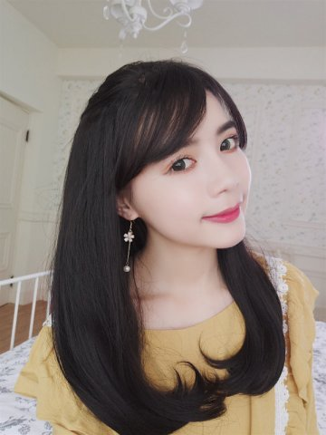 【PU0478】(隱形補髮片) U型假髮 內捲梨花中長髮