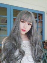【W00296】精靈少女 大頭皮 空氣瀏海 長捲髮假髮