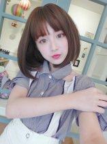 【W01267】放電甜心 空氣瀏海 大頭皮 內彎短髮