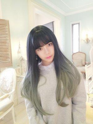 【W01596】迷幻夢境漸層微彎 大頭皮 長髮