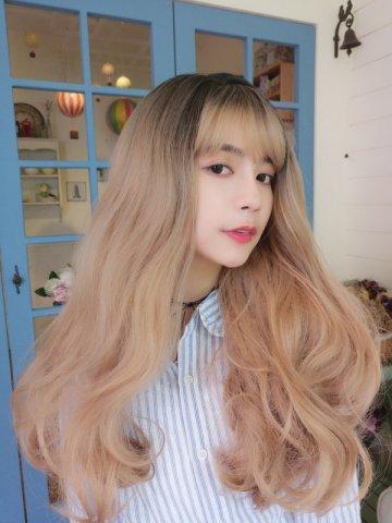 【W01669】甜夢女孩 大側分波浪 大頭皮 長捲髮