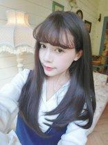 【W03810】 蜜糖女孩 微空氣瀏海 大頭皮 括號捲中長髮