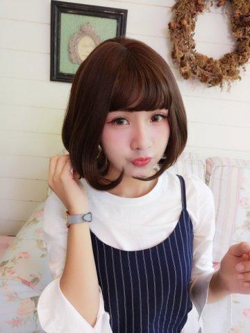 【W04128】 俏皮放電機 大頭皮 自由分線 空氣瀏海短髮