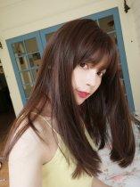 【W04828】頭號甜心 空氣瀏海 大頭皮 微彎中長髮 長髮 整頂假髮