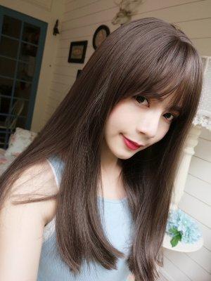 【W05019】 花妍物語 髮尾彎彎 大頭皮 中長髮 整頂假髮