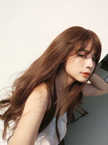 【W05282】微甜仙子 空氣瀏海 大頭皮 波浪長捲髮
