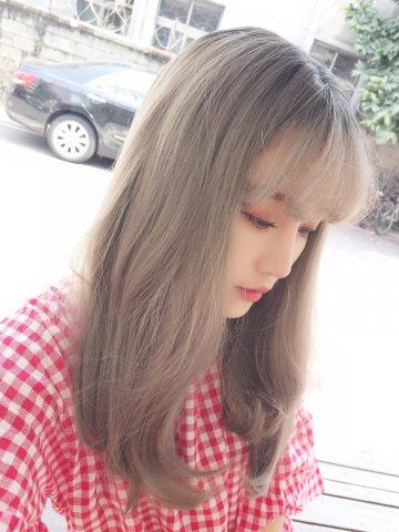 【WA1510】甜甜女孩 褪色布丁頭 內彎中長髮
