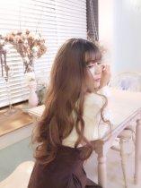 【WA1401】愛麗絲女孩 褪色布丁頭 大頭皮 大波浪長捲髮