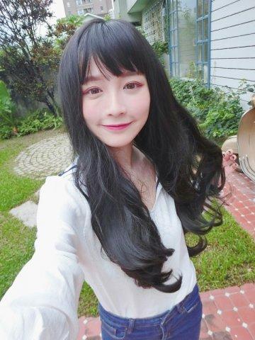 【W00358】清新女神 空氣瀏海 大頭皮 長捲髮