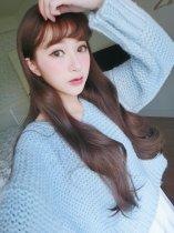 【W00558】維娜斯女神 大頭皮 空氣瀏海 波浪長捲髮假髮