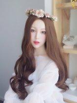 【W00667】希臘女神 大頭皮 中分長捲髮整頂假髮