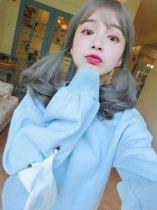 【W01167】輕甜洋娃娃 空氣瀏海 大頭皮 蛋捲梨花中長髮